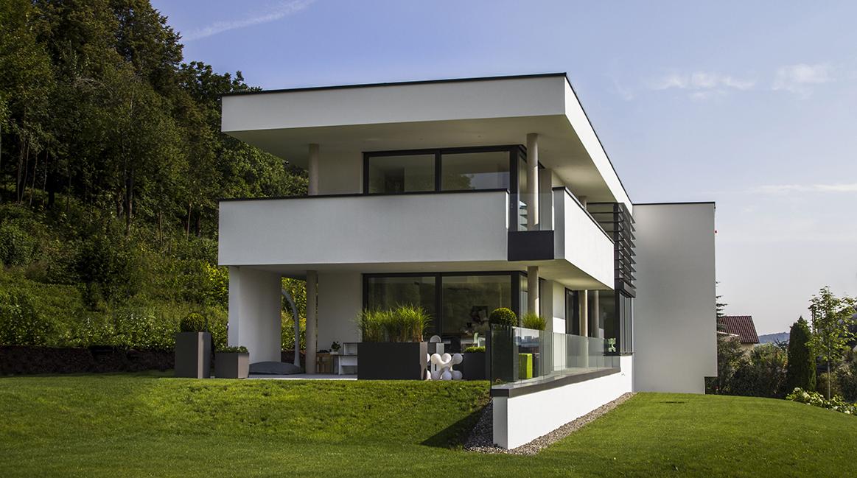 Leistungen FUCHS, WACKER. Entwurf, Planung: Gebäude   Gartengestaltung    Interieur   Einbaumöbel