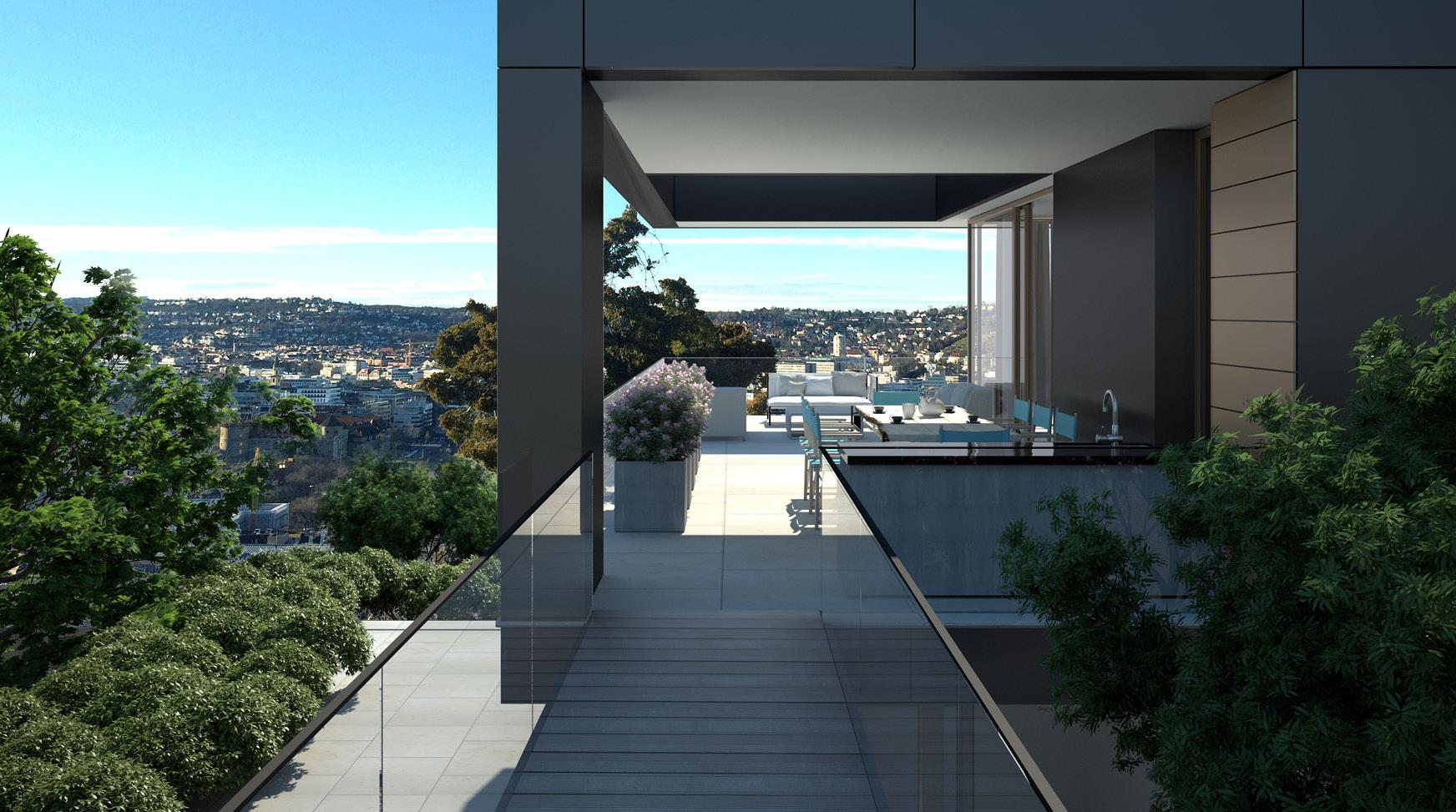 projekt haus am hang stuttgart architekten bda fuchs. Black Bedroom Furniture Sets. Home Design Ideas