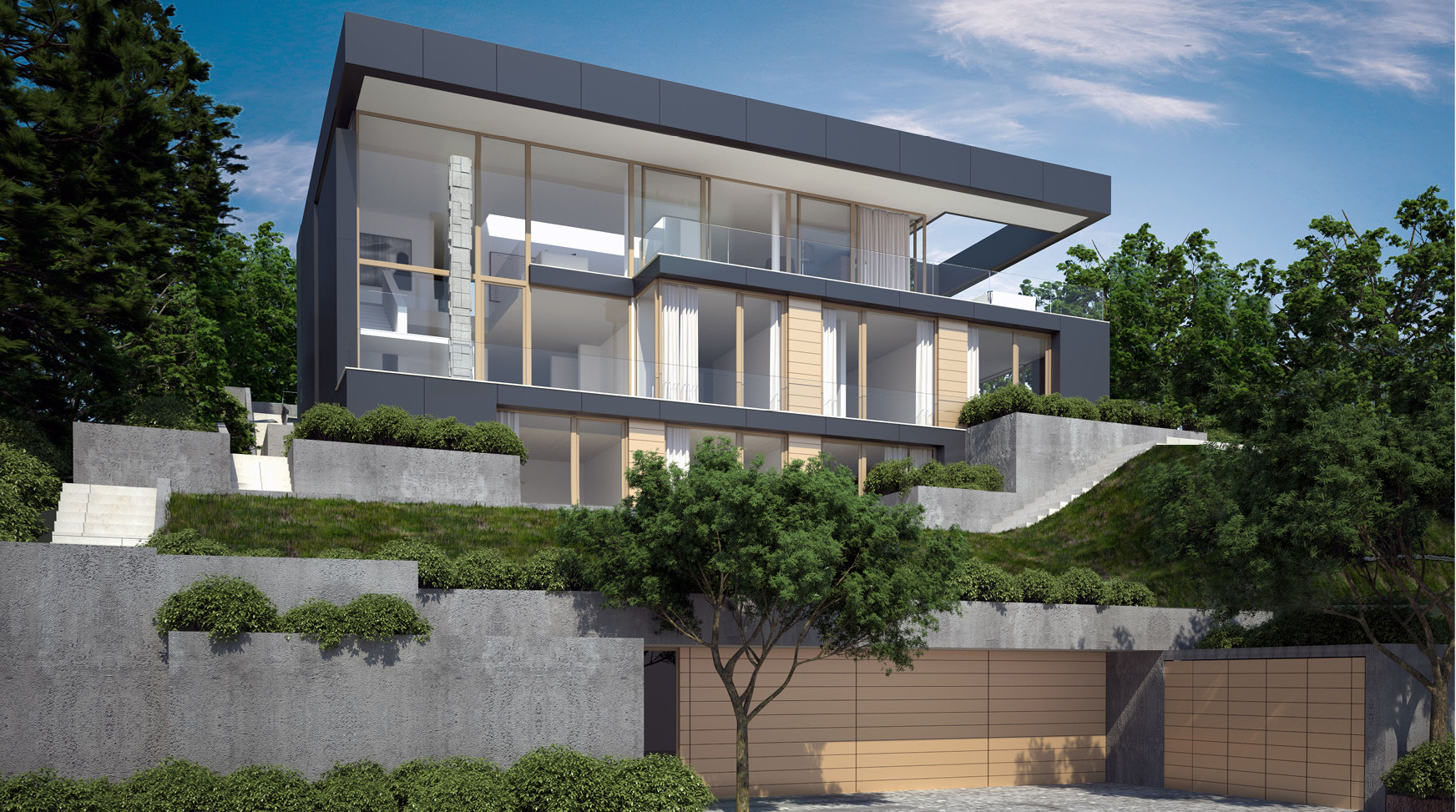 Projekt - Haus am Hang Stuttgart | architekten bda: Fuchs ...