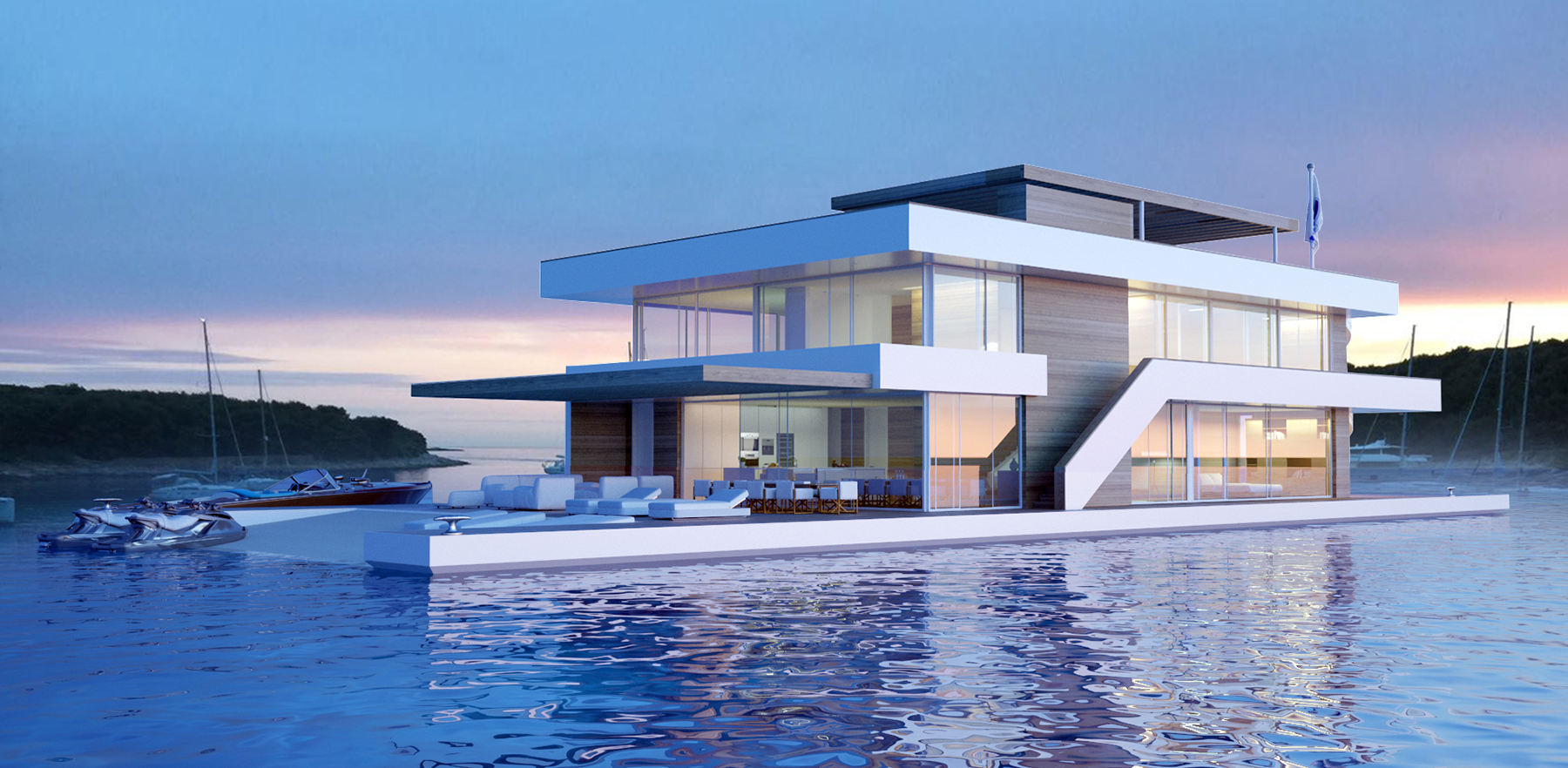 Fuchs Wacker floating homes architekten bda fuchs wacker